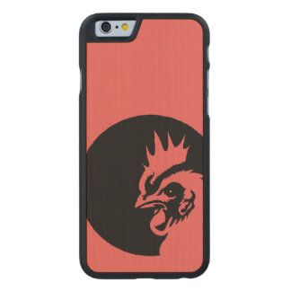 Only Coral Head Rooster Carved® Maple iPhone 6 Case