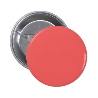 Only Coral pink solid color Pinback Button
