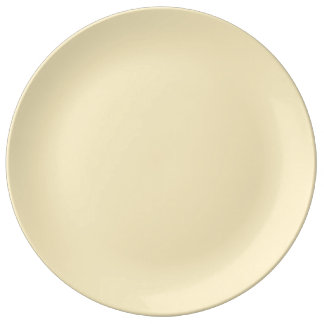 Only cream pale elegant solid color OSCB44 Dinner Plate