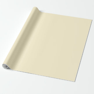 Only cream pale pretty solid OSCB44 background Wrapping Paper