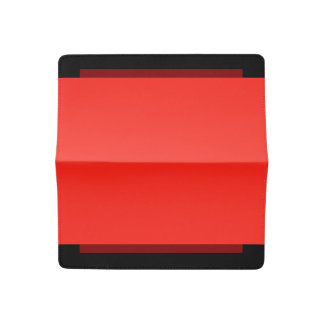 Only crimson red multi cool solid color OSCB35 Checkbook Cover