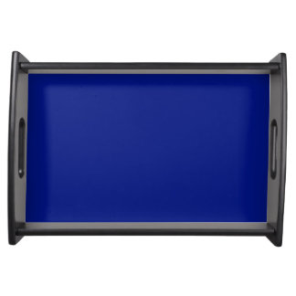 Only dark blue cool solid color background serving trays