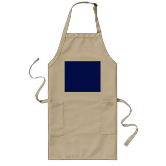 Only dark blue cool solid OSCB33 background Long Apron
