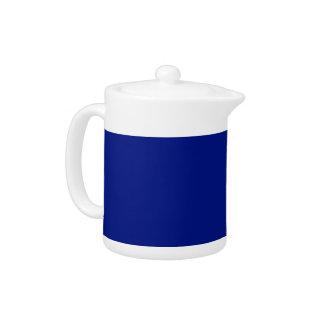 Only dark blue elegant color customizable teapots