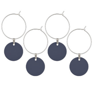 Only dark blue gray gorgeous solid color OSCB45 Wine Glass Charm