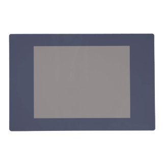 Only dark blue gray gorgeous solid gray panel placemat