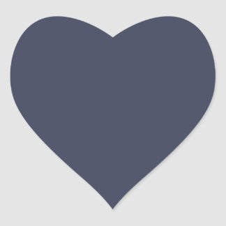 Only dark blue gray livid solid color background heart sticker