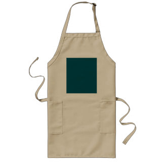 Only dark teal blue coral solid color OSCB30 Long Apron