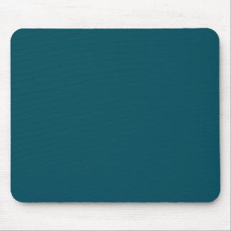 Only dark teal blue elegant solid color background mouse pad