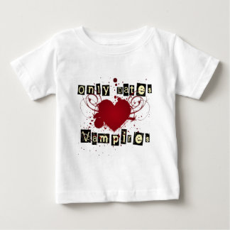 Only dates vampires gothic heart baby T-Shirt