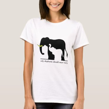 Beach Themed Only Elephants Should Wear Ivory (White Ver.) T-Shirt