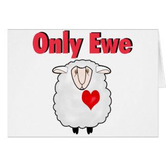 Only Ewe Greeting Card