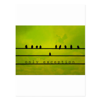 Only Exception Postcard