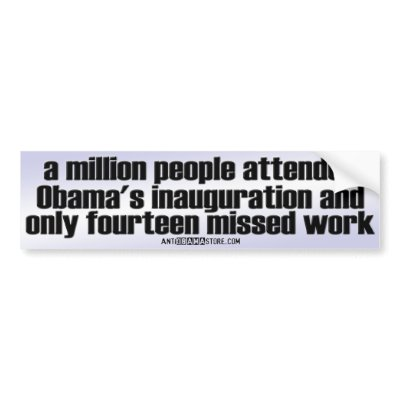 at Obama s inauguration and 2 missed work