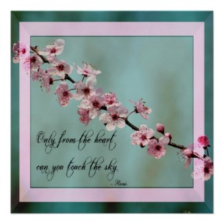 Only From the Heart Floral Posters