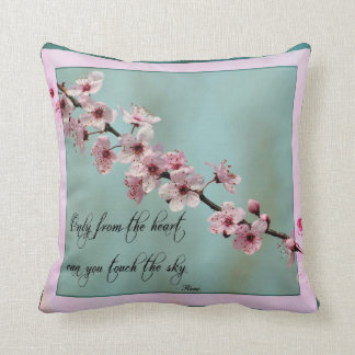 Only From the Heart Floral Throw Pillow