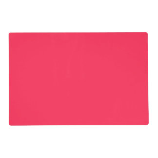 Only fuchsia pink pretty solid color background laminated placemat