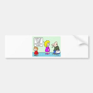 only girl home economics class school bumper sticker