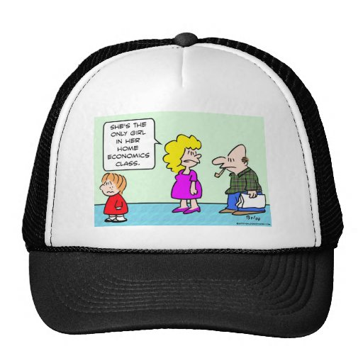 only girl home economics class school hats