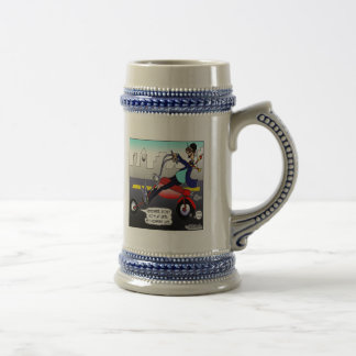 Only Go Flat When He's Late Beer Stein