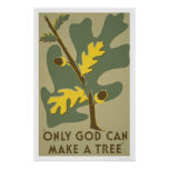 Only God Can Make Trees 1938 WPA Poster