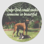 Only God could make someone so beautiful Classic Round Sticker