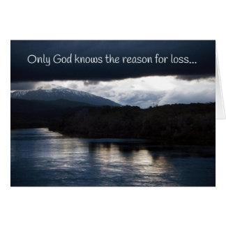 Only God Knows...Sympathy Card