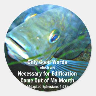 Only good words sticker