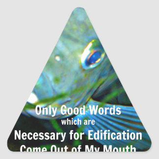 Only good words triangle sticker