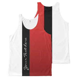 Only Gradients Color - red + your idea All-Over-Print Tank Top