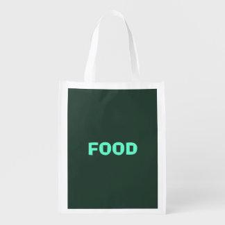 Only green forest vintage solid color background grocery bag