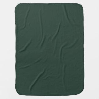 Only green forest vintage solid color background receiving blanket