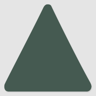 Only green forest vintage solid color background triangle sticker