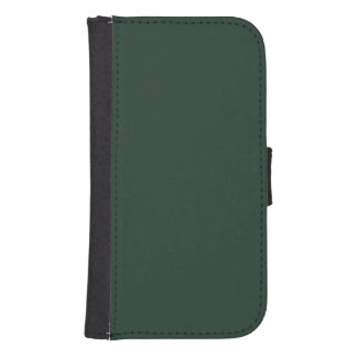 Only green forest vintage solid color OSCB29 Galaxy S4 Wallet