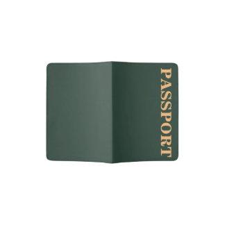 Only green forest vintage solid color OSCB29 Passport Holder