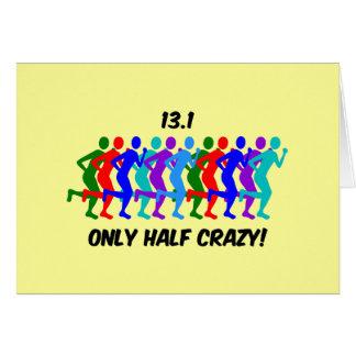 only half crazy card