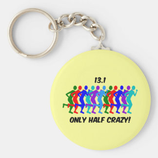 only half crazy key chains