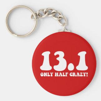 only half crazy keychain