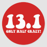 only half crazy stickers