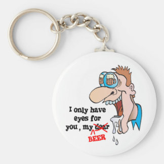 only have eyes for beer funny drinking design basic round button keychain