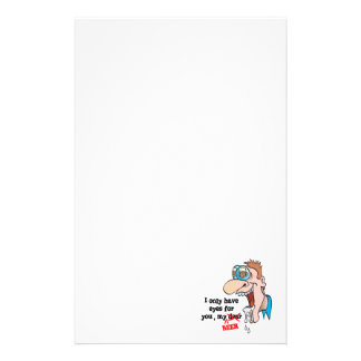only have eyes for beer funny drinking design stationery