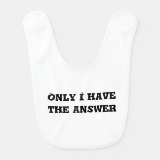 Only I Have the Answer text Bib