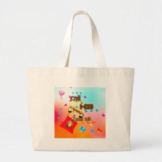 Only I want to say you love me Large Tote Bag