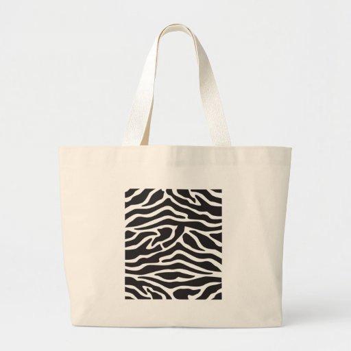 Only in Jersey Zebra Prints by MDillon Designs Jumbo Tote Bag