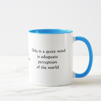 Only in quiet waters - mug