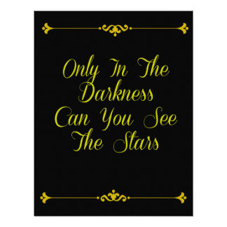 Only In the Darkness - Motivational Typography Letterhead