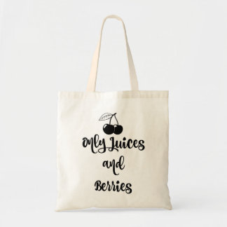 Only Juices & Berries Cotton Tote - Black Cherry