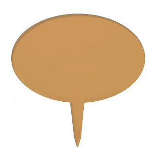 Only khaki cool solid color background cake toppers
