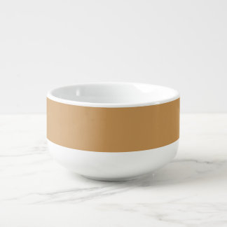 Only Khaki solid color Soup Bowl With Handle