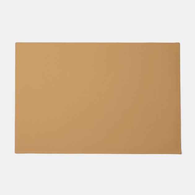Only Khaki Tan Classic Solid Color Oscb39 Doormat Zazzle